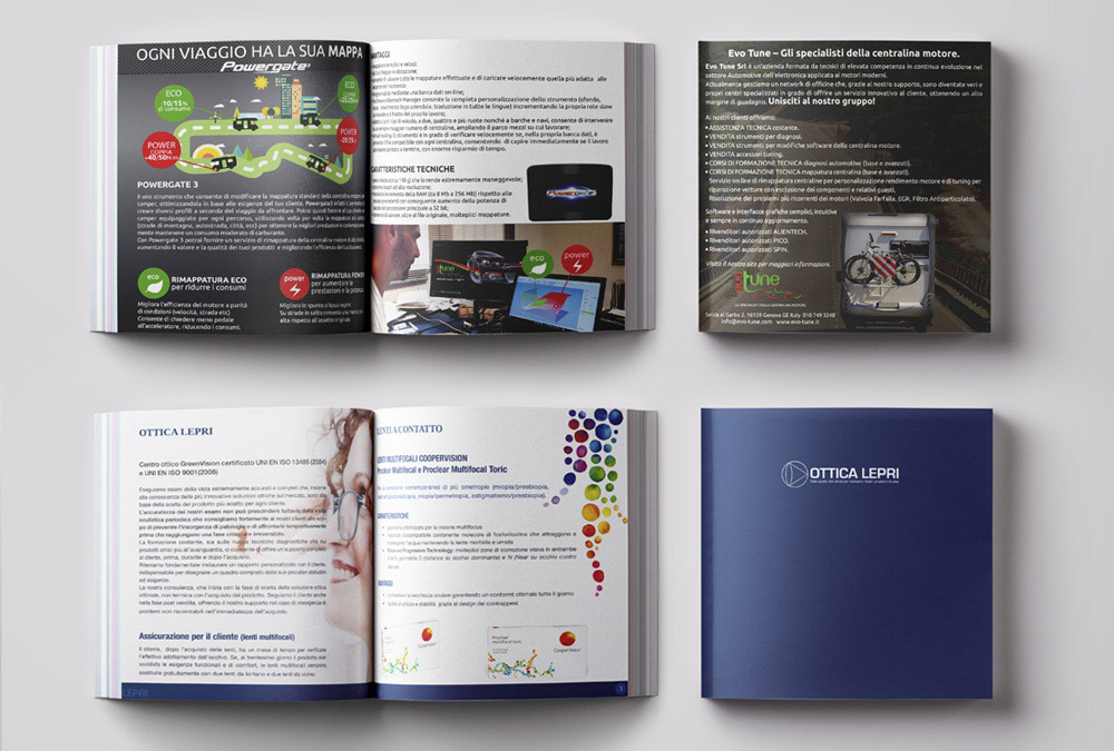 Grafica Brochure Quadrate